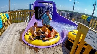 Adventure Island Tampa - Wahoo Run | Family Raft Ride Onride POV