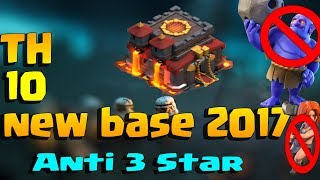 Best th 10 war base 2017|Th 10 anti 3 star base | th 10 base anti 3 star base| super super trailers
