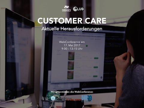 """WebConference """"Aktuelle Herausforderungen im Customer Care"""""""