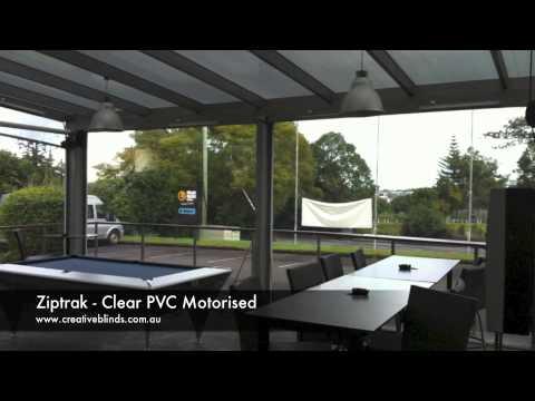 Creative Blinds & Awnings Ziptrak Motorised Clear PVC Awnings