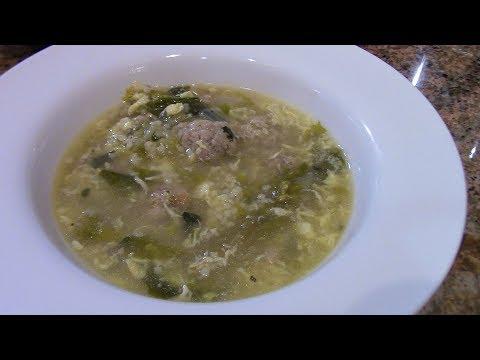 Escarole Soup/ Italian Wedding Soup