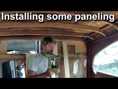 Paneling the bulkhead and Planking the dashboard - Wooden Boat Restoration- Travels With Geordie #53