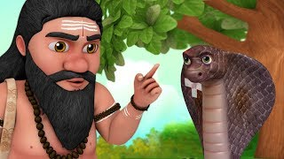 The Snake and the Priest Story | Telugu Stories for Children | Infobells