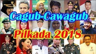 Cagub Cawagub 17 Provinsi Pilkada Serentak 2018 dan Partai Pengusung