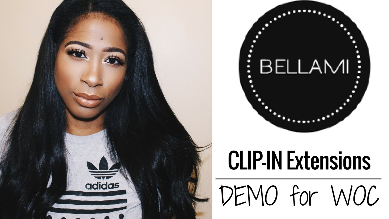 Bellami Clip-In Extension Hair Tutorial for WOC ~ RAE WEST - YouTube 7029a37cd9