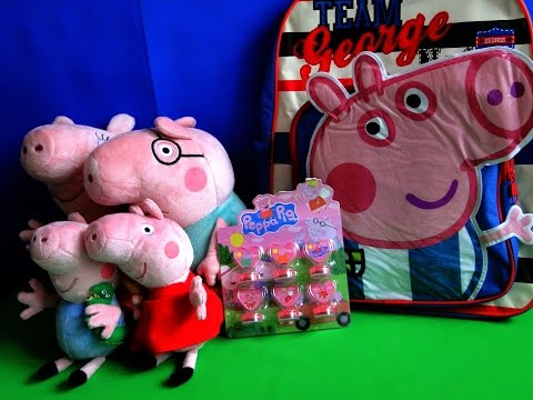 Свинка Пеппа и ее семья. Мягкие игрушки, печати и рюкзак
