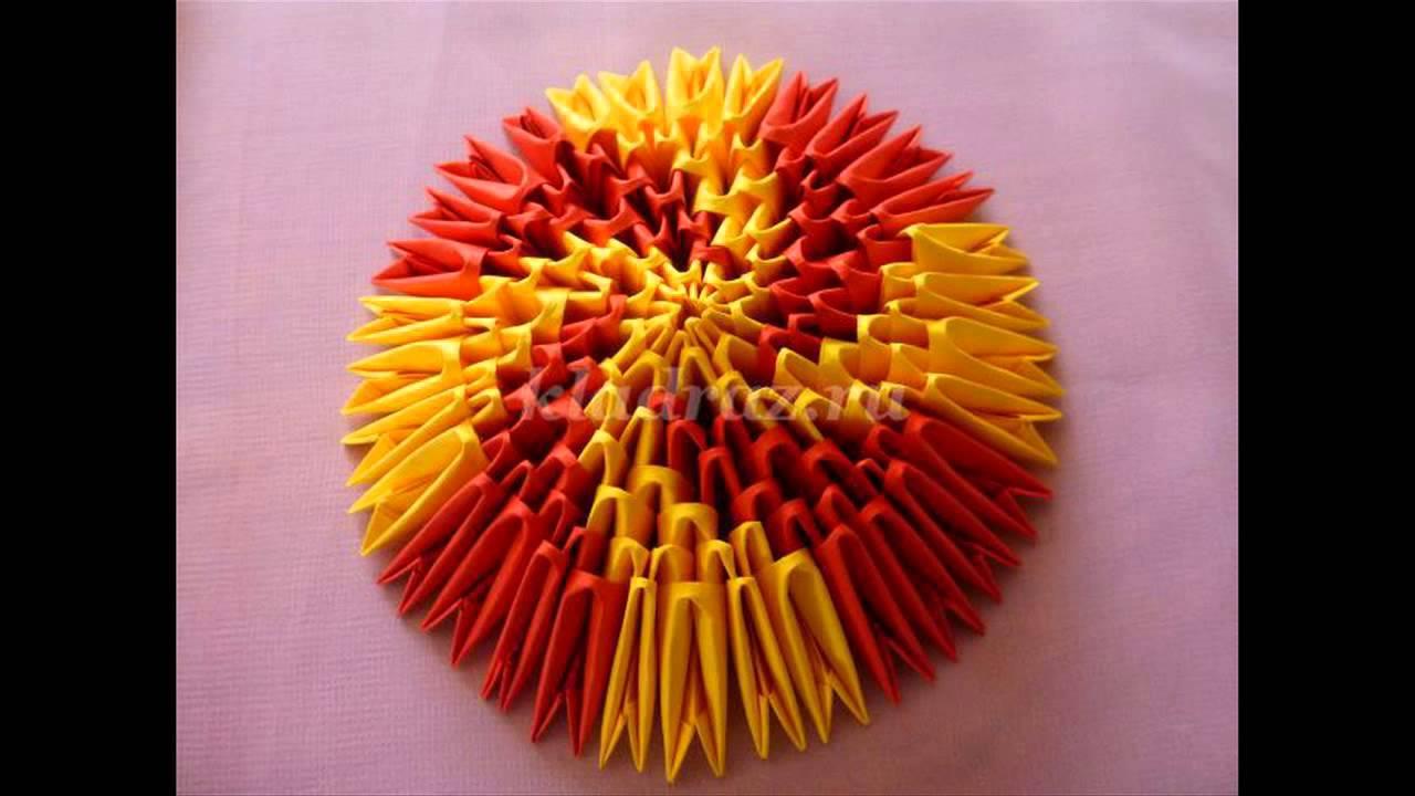 светильник из модульного оригами схема