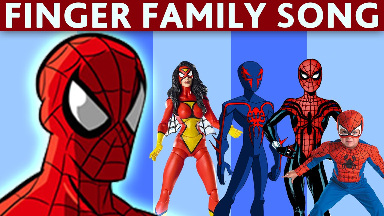 DADDY FINGER SONG SPIDERMAN Nursery Rhymes For Children