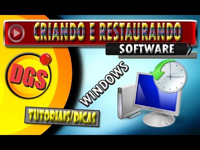 Criar um ponto de restauração e restaurar a um ponto anterior criado - Windows 10