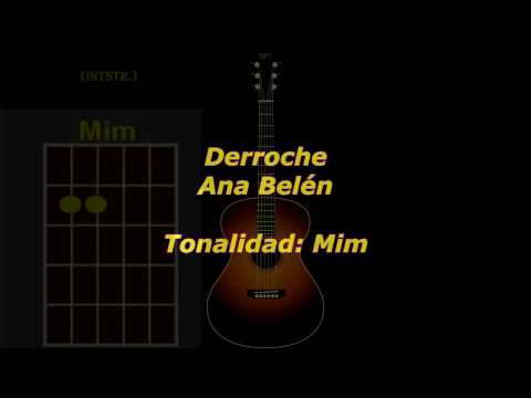 Derroche (Ana Belén) acordes guitarra cover