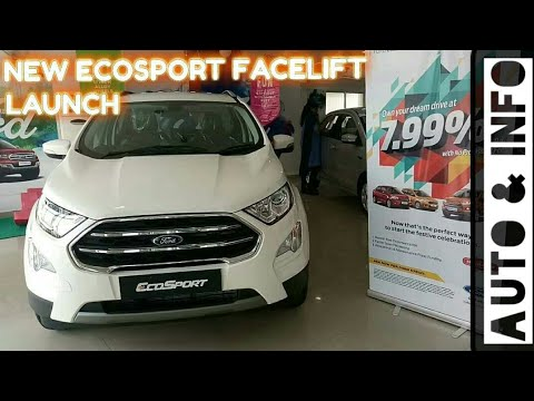 FORD ECOSPORT FACELIFT 2018 LAUNCH COLOURS AND VARIANTS ECOSPORT DETAILS