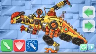 Мультик игра Корпорация роботов динозавров 2 (Dinosaur Corps 2)