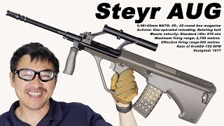 JG steyr AUG Military  Airsoft AEG Integrated Scope OD 電動ガンレビュー