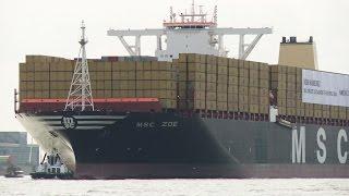 MSC Zoe: Weltgrößtes Containerschiff in Hamburg