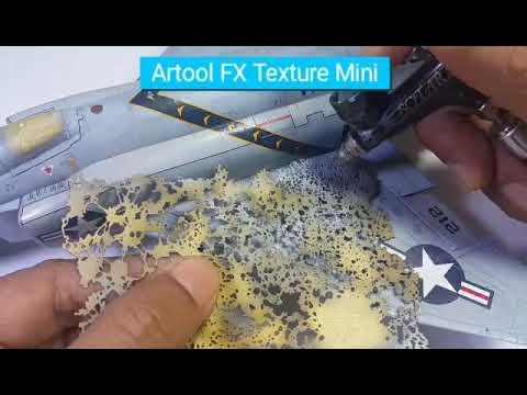 3 Mini stencils aerografo Artool Texture FX Mini Series