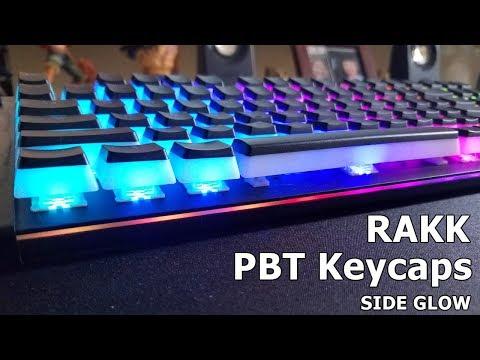 Rakk PBT Sideglow Keycap on Rakk Kimat XT 2 by WMD Tech
