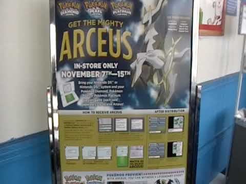 "At the Toys""R""Us Arceus Event - Downloading Arceus into your Pokemon Platinum Game"