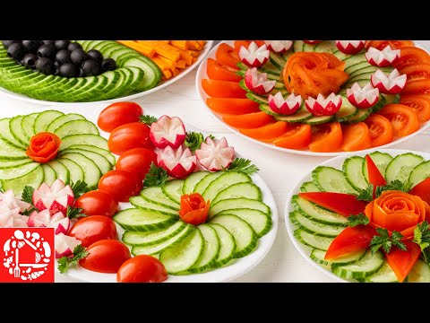 Нарезка овощная на праздничный стол фото в домашних условиях