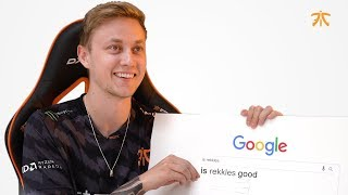 Rekkles Answers Most Googled Questions - Part 1 | FNATIC