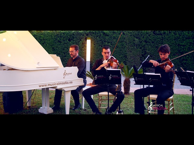 You raise me up piano y dos violines El Bancalito Bodas Alicante wedding music