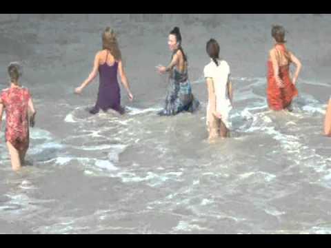 Udupi: Shiroor swamiji teaches water yoga to foreigners.