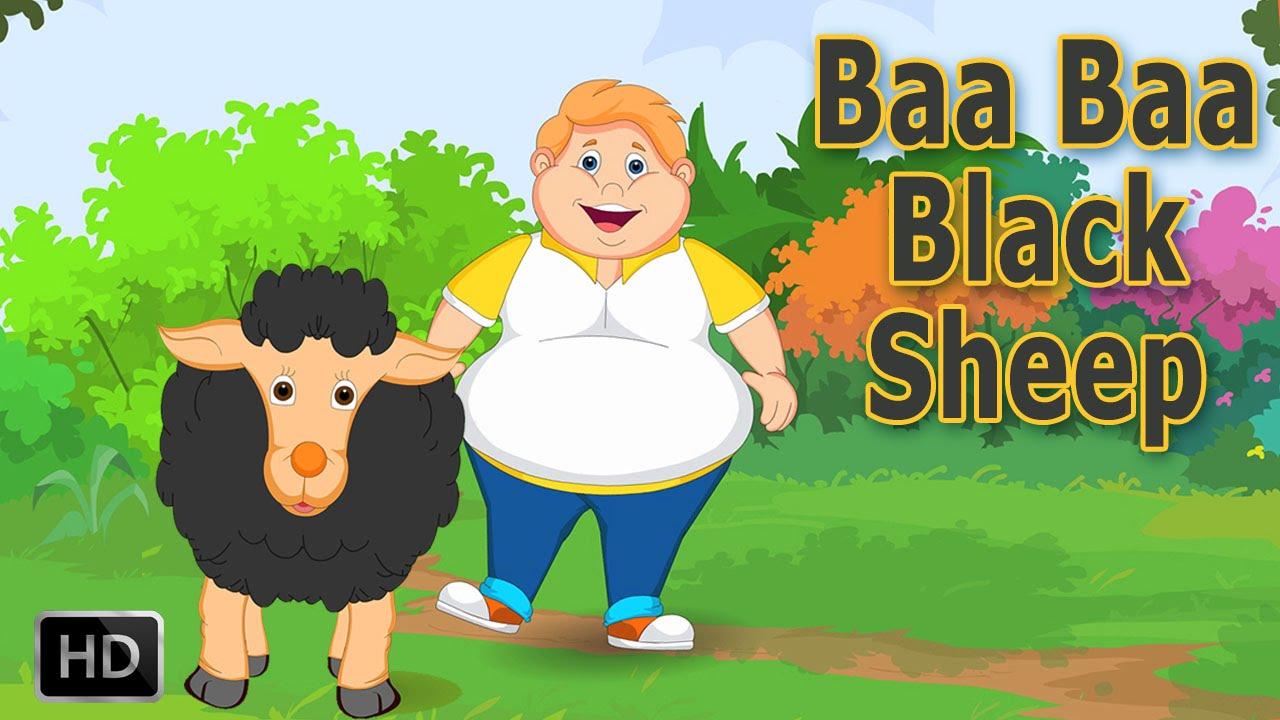 Baa Baa Black Sheep Nursery Rhyme With Lyrics Cartoon