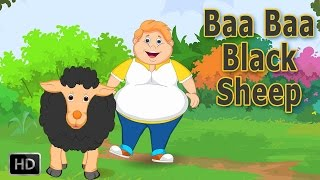 Baa Baa Black Sheep Nursery Rhyme with Lyrics - Cartoon Animation Rhymes & Baby Songs