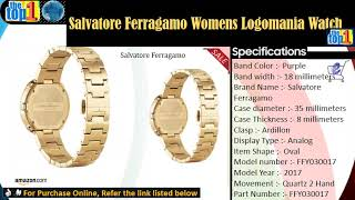 Salvatore Ferragamo Womens Logomania Watch