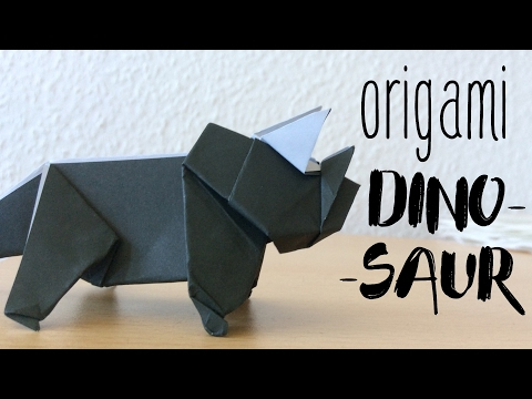 How to make a Paper Dinosaur | Origami Dinosaur Triceratops