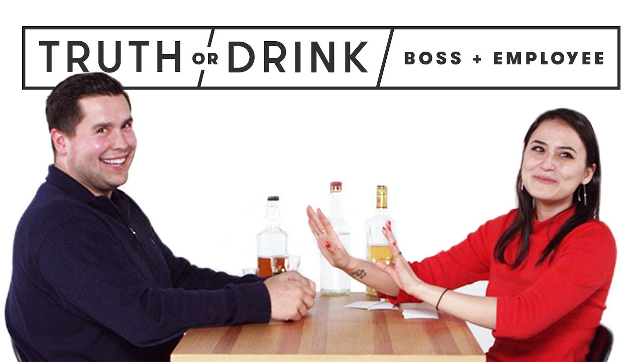 My Boss & I Play Truth or Drink | Truth or Drink | Cut