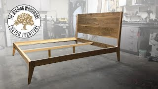 Making A Mid Century Modern King Size Bed in Walnut