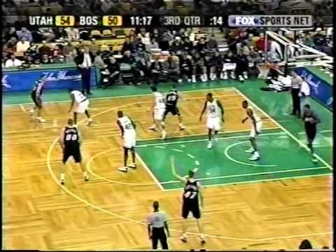 Jazz at Celtics - 12/19/03 (Raja Bell game-winner)