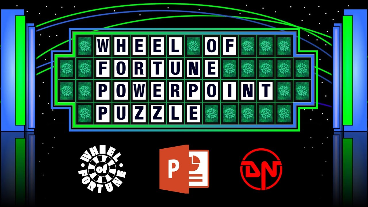 wheel of fortune board template - wheel of fortune powerpoint puzzle youtube