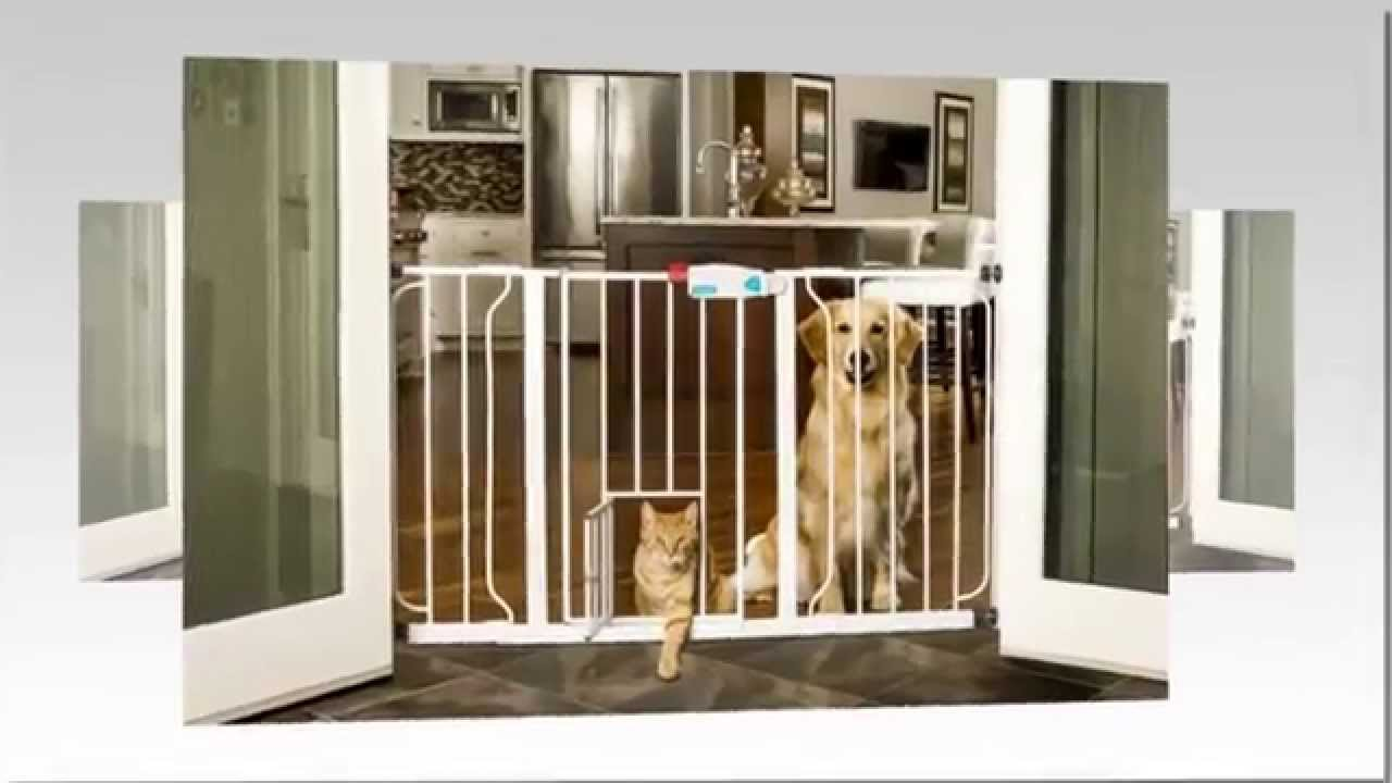 The Carlson Extra Wide Walk Through Gate With Pet Door Review Or DIY Doggy  Gate   You Choose!