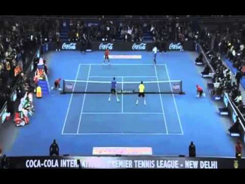 [HD] Federer – Djokovic |International Premier Tennis League 9/12/2014