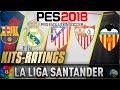 PES 2018 Option Files PS4 - All 2017/2018 and Liga Santander Kits