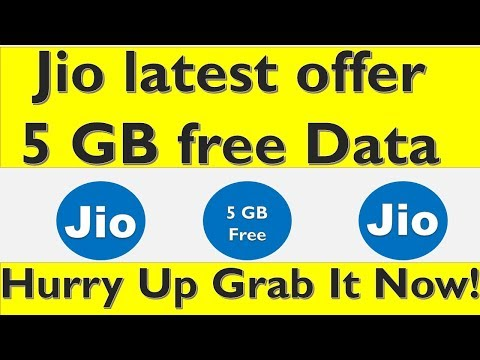 Jio Latest offer 5 GB free data | Here how you can get 5 GB free data
