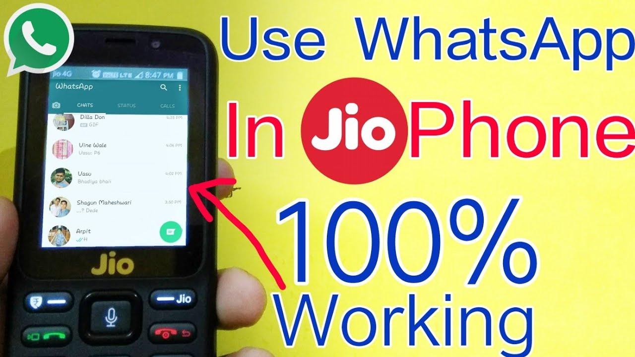 How To Use WhatsApp In Jio Phone | WhatsApp on JioPhone | 100% Working | In  Hindi