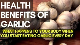 WHAT HAPPENS TO YOUR BODY WHEN YOU START EATING GARLIC EVERY DAY (uses and benefits of garlic)