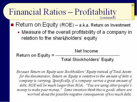 BUS123 Chapter 17 - More Ratio Analysis - Slides 20 to 38