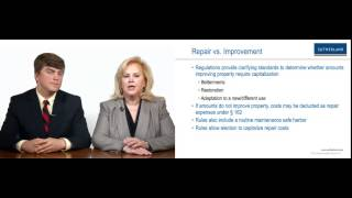 Videocast: Methods of Accounting: Tangible Property Regulations
