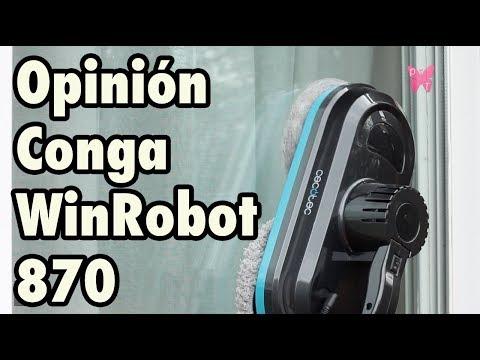 Opinión del robot limpiacristales Conga WinRobot 870