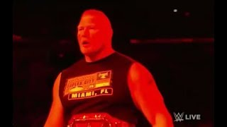 Wwe Monday Night Raw  Brock Lesnar Vs Kane  Jan / 1