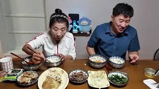먹방MUKBANG 전찌개(잡탕),참치,가자미전,도라지무…