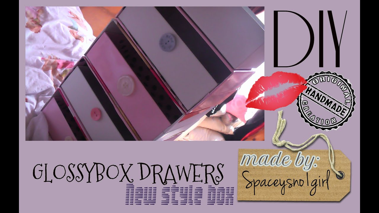new style glossybox drawers diy youtube