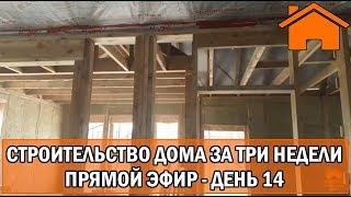 Строительство дома за 3 недели, прямой эфир. День 14-ый.