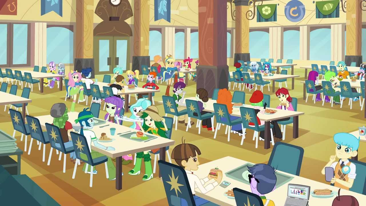 Girls Equestria Base Cafeteria Mlp