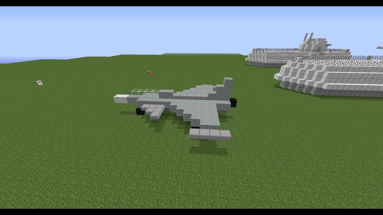 Tuto comment construire un avion de chasse sur minecraft - Comment faire un evier dans minecraft ...