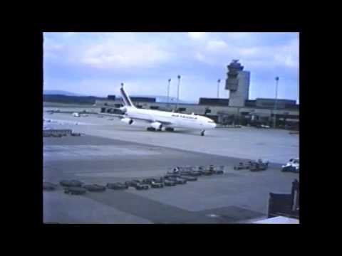 Swiss trip 1993 - Museum, Airport, and flight.