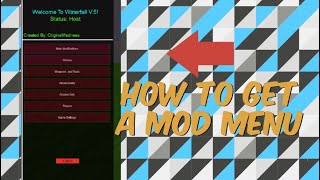 How to get a mod menu on roblox